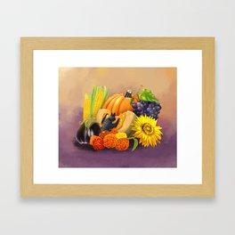 Commisions | Bat autumn harvest Framed Art Print