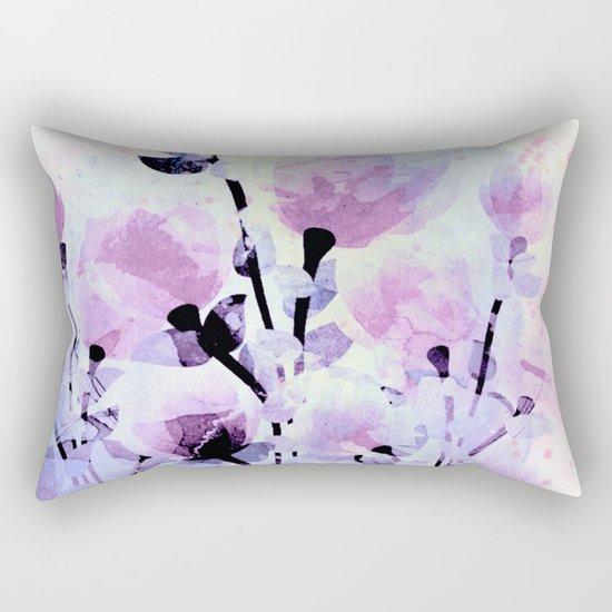 soft pink and purple bouquet Rectangular Pillow