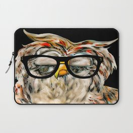 Hipster Owl Laptop Sleeve