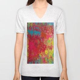 Tie-Dye Veins Unisex V-Neck