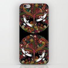 tree of life black iPhone & iPod Skin