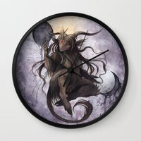 baphomet Wall Clocks featuring Baphomet by Savannah Horrocks