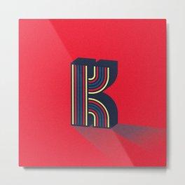 Letterform K Metal Print