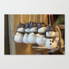 Ickle Snowmen Canvas Print