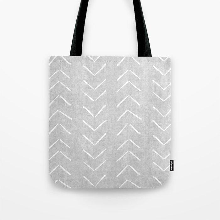 Mudcloth Big Arrows in Grey Tote Bag