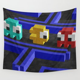 Pac-Man's dilemma Wall Tapestry