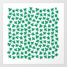 St Patricks Clove Pattern Art Print