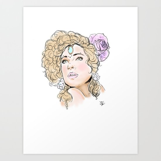 """Alex Kingston"" Art Print"