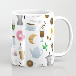 I Love You a Latte - Coffee Pattern Coffee Mug