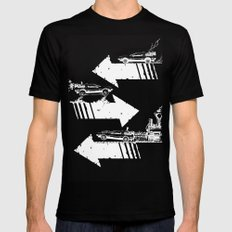 Back to the Future Minimalist Poster Black LARGE Mens Fitted Tee
