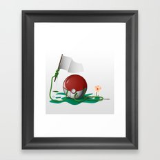Green Nightmare Framed Art Print
