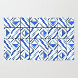 symetric tartan and gingham 13 -vichy, gingham,strip,square,geometric, sober,tartan Rug