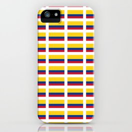 Flag of Colombia 2 -Colombian,Bogota,Medellin,Marquez,america,south america,tropical,latine america iPhone Case
