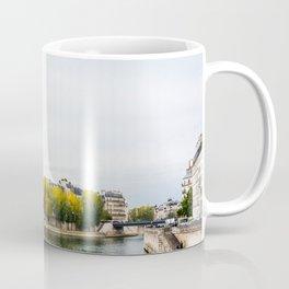 Seine river at Saint Louis island confluence in Paris Coffee Mug