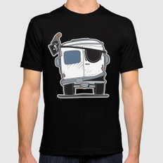 The Booty Wagon MEDIUM Black Mens Fitted Tee