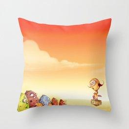 Kid Robo leads the Jellies Throw Pillow