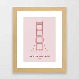 San Francisco City Collection Framed Art Print