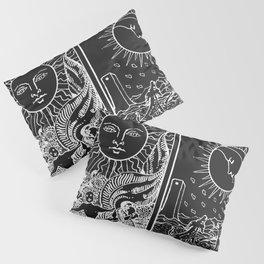 The Sun and Moon Tarot Cards | Obsidian & Pearl Pillow Sham