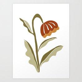 flower cut out Art Print