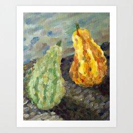 Squash in Oil Art Print