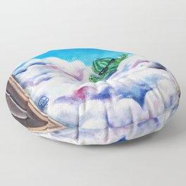 Cloud Surfing Cactus Floor Pillow