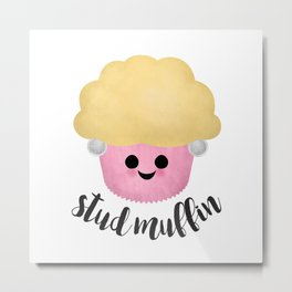 Stud Muffin - Earrings Metal Print