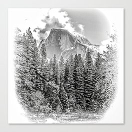 Wintry Portrait of Half Dome Canvas Print