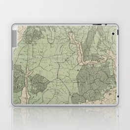 Vintage White Mountains New Hampshire Map (1915) Laptop & iPad Skin