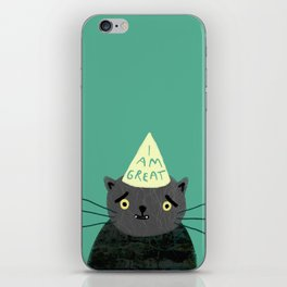 "Fat Olive ""I Am Great"" iPhone Skin"