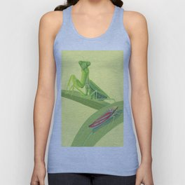 Mantis and Leafhopper Unisex Tank Top