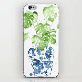 Ginger Jar + Monstera iPhone Skin