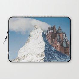 Castle on the Hill Matterhorn and Burg Eltz Castle in Germany Laptop Sleeve