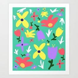Handmade Bright Spring Pop Art Print Art Print
