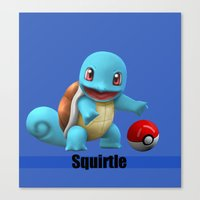 squirtle Canvas Prints featuring Squirtle by Yamilett Pimentel