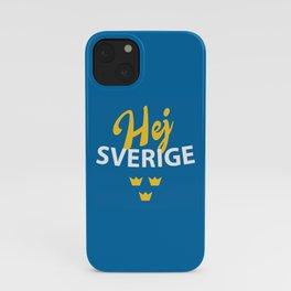 Hej Sverige, Hello Sweden iPhone Case