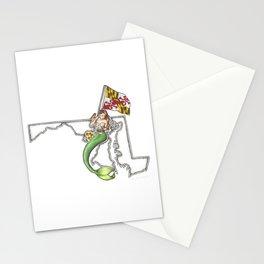 Maryland Mermaid Stationery Cards