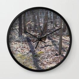 Deer grazing Wall Clock