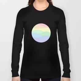rainbow waves unicorn colors Long Sleeve T-shirt