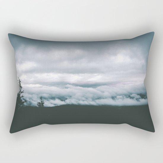 Forest Fog VII Rectangular Pillow