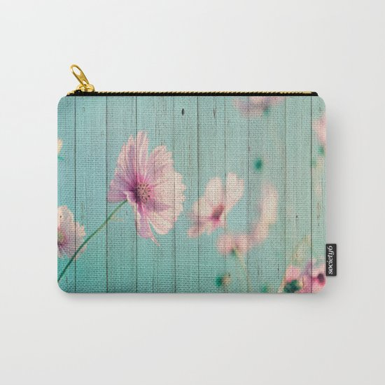 Sweet Flowers on Wood 07 Carry-All Pouch