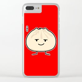 Pork Bun dim sum Chinese breakfast steamed bbq bun Clear iPhone Case