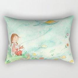 Amelia's Grumpy Fish Kite Rectangular Pillow