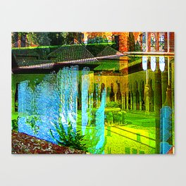 Alhambran Fume Tangent Canvas Print
