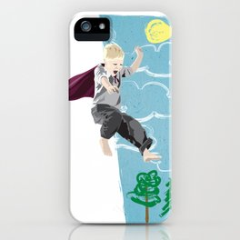 The man who has no imagination has no wings. iPhone Case