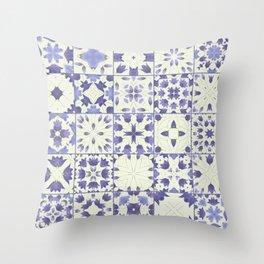 Flower Bell Azulejos Throw Pillow