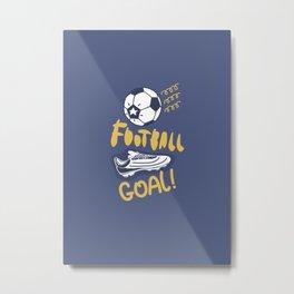 Football. Goal. Metal Print