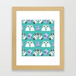 Staffordshire Dogs + Ginger Jars No. 2 Framed Art Print