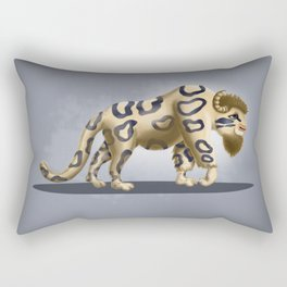 Bison Leopard Rectangular Pillow