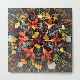 Nature Mandala: July Metal Print