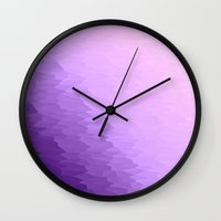 lavender Wall Clocks featuring Lavender Ombre by Simply Chic